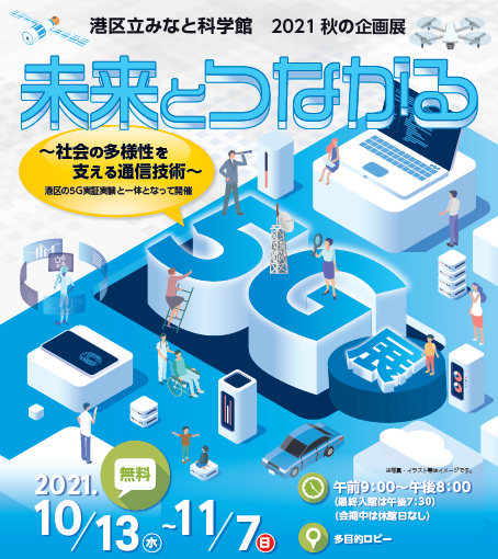 2021秋の企画展「未来とつながる5G展」開催決定!