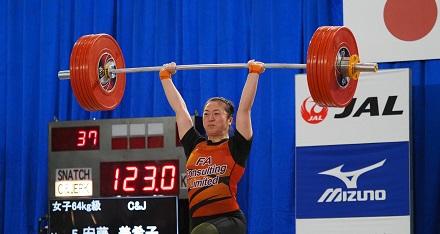 ウエイトリフティング女子59キロ級 安藤美希子選手とはなそう!~世界で活躍する強さのヒミツ~